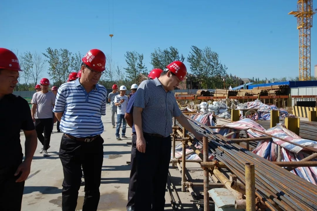 集团领导深入滨海建设公司南园项目调研